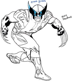 wolverine marvel drawing draw step comics tutorial