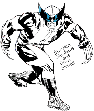 marvel wolverine drawing draw comics step cartoon easy tutorial characters getdrawings finished
