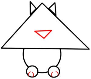 simple cat shapes draw shape children preschoolers tutorial