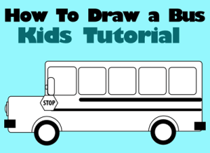 draw drawing easy step simple bus drawings tutorial children busses lesson paintingvalley getdrawings