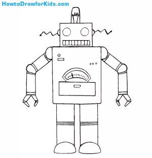 robot draw drawing robots step drawings easy google anime circles rectangles