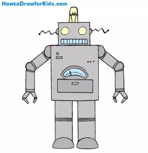 robot draw step simple lesson dear hello artists welcome young