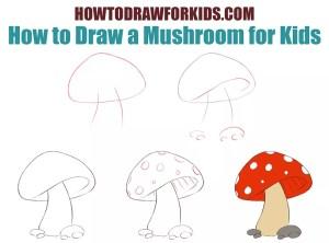 draw mushroom step mug