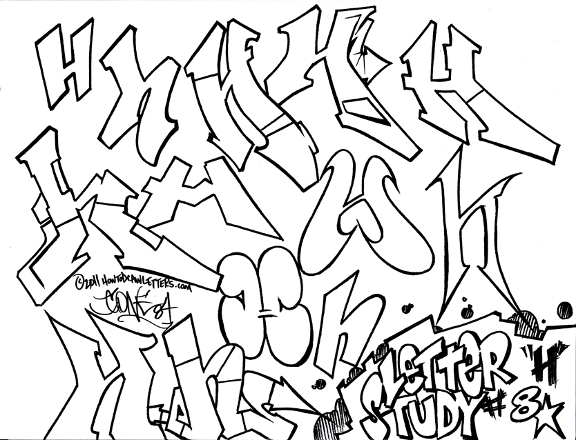 How To Draw Wildstyle Graffiti Letter