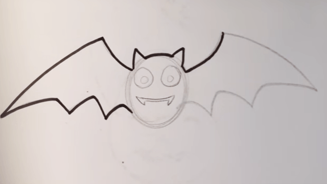 How To Draw A Cute Bat Halloween Drawings Easy Stuff To Draw Art Tutorials And Drawing Ideas For Beginners