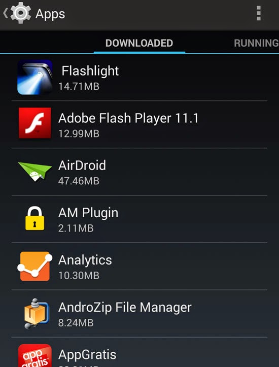 list-of-apps-installed-android