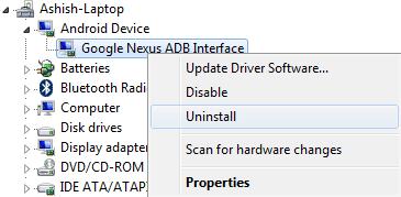 google-nexus-adb-interface