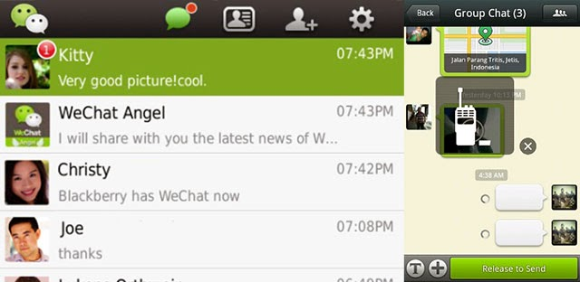 WeChat app preview