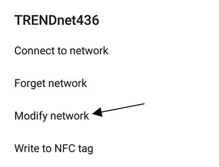 Modify network