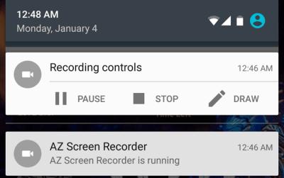 AZ Screen Recorder Controls
