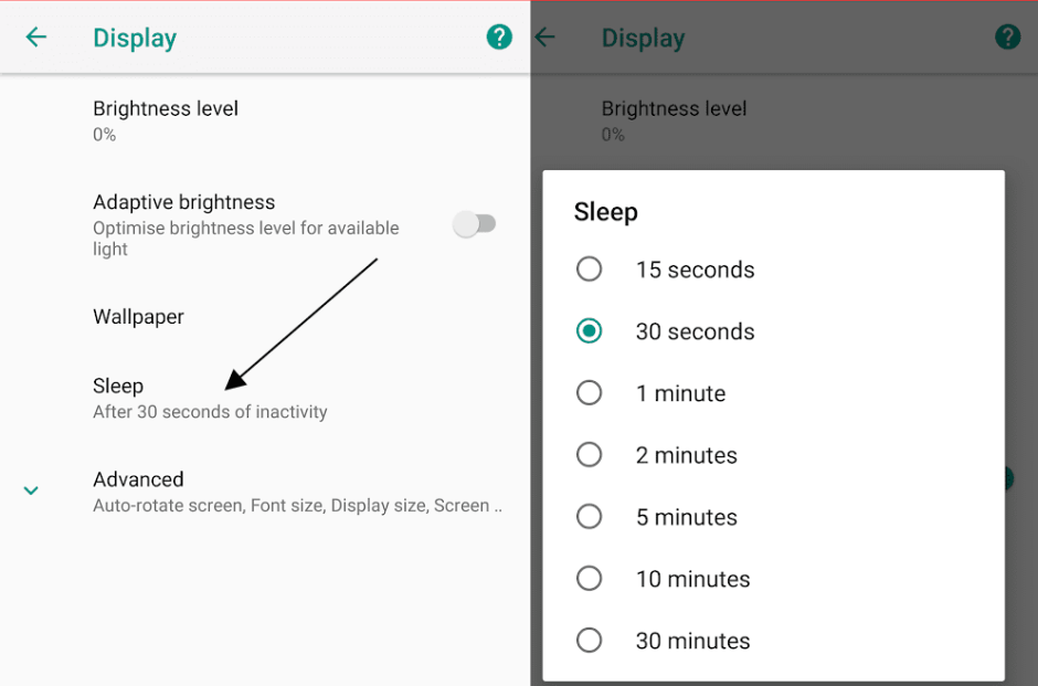 Choose How Long Android Screen is On