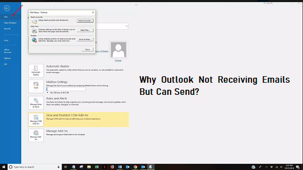 outlook not receiving emails