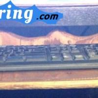 I make a keyboard shelf