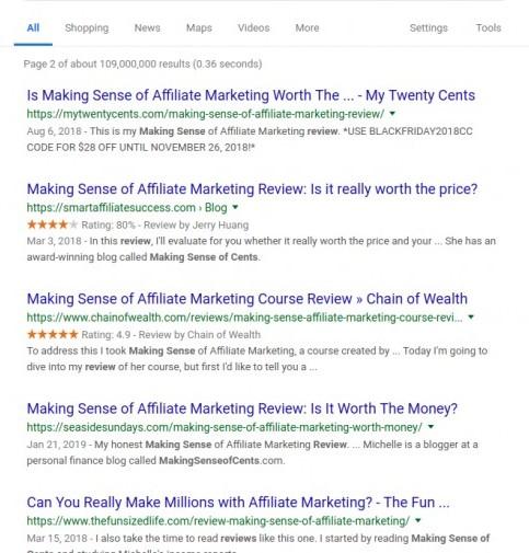 making sense of cents reviews