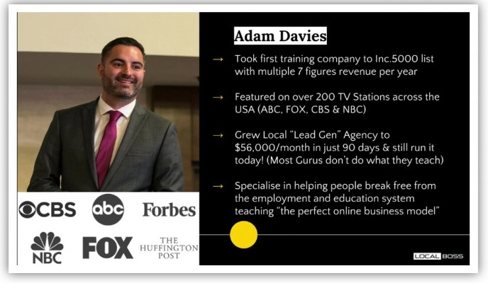 adam davies local boss review