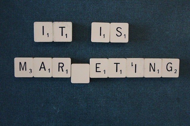 Blocks that say 'it is marketing'