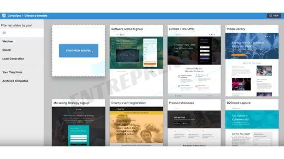 SendinBlue Review - Landing Pages