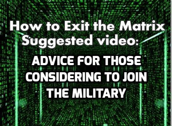 Advice for those considering military