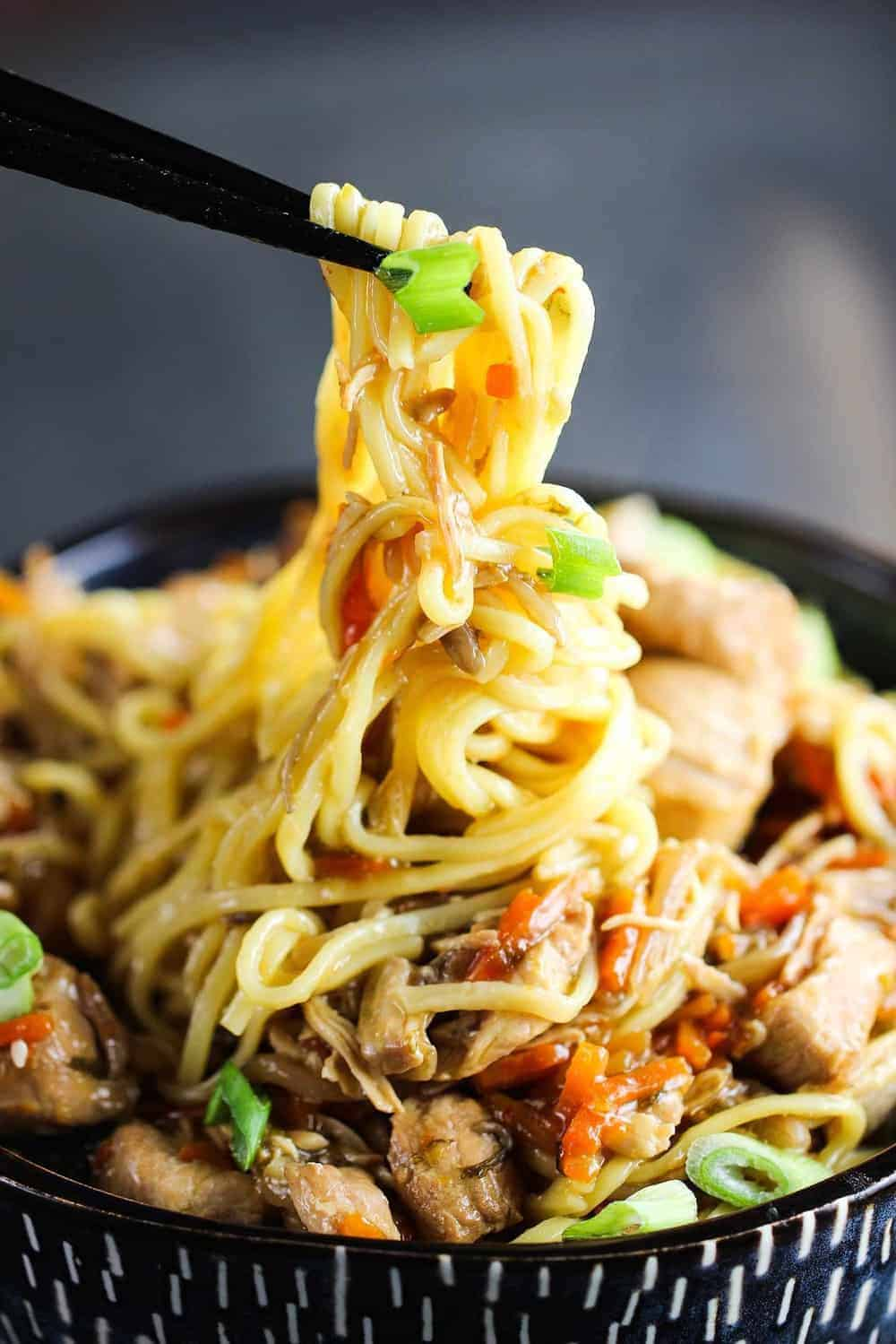 Slow Cooker Chicken Chow Mein Recipe  How To Feed a Loon