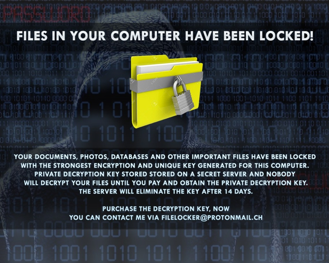 FILES IN YOUR COMPUTER HAVE BEEN LOCKED!