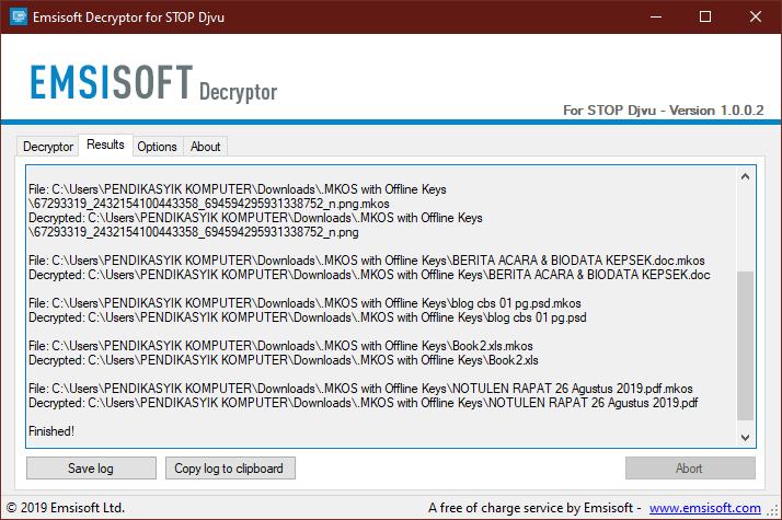 mkos decryption