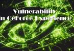 NVIDIA GeForce Experience Vulnerability