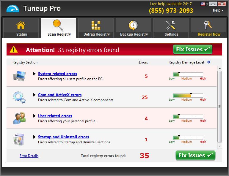 Tuneup Pro Fake Result