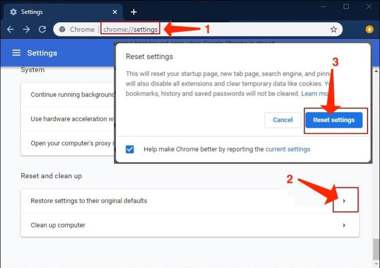 Deceptive Site Ahead - Resetting Google Chrome browser