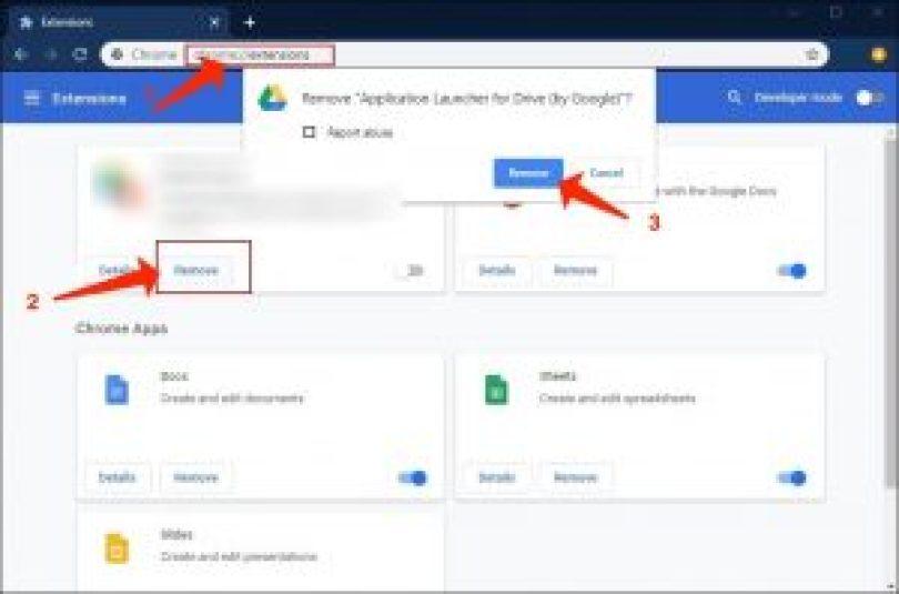 Deceptive Site Ahead - Löschen Sie Chrome-Erweiterungen von Drittanbietern