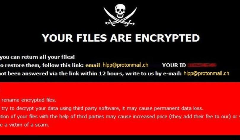 [hlpp@protonmail.ch].Hlpp virus demanding message in a pop-up window