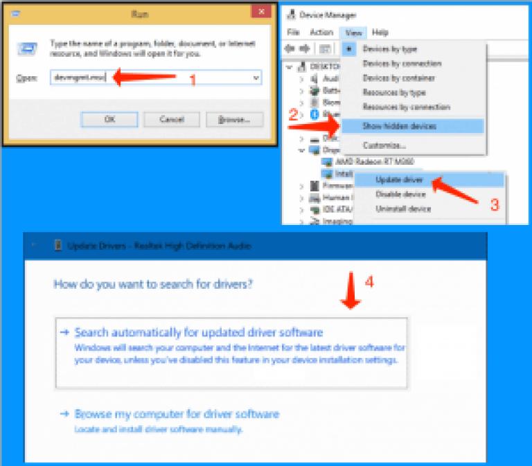 更新されたドライバーソフトウェアを自動的に検索する