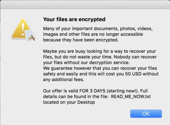 ThiefQuest no longer encrypts files