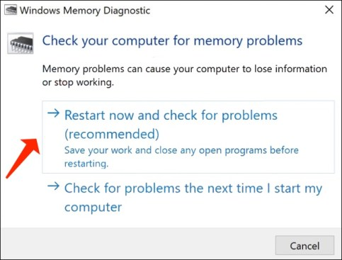 check computer for memory problems