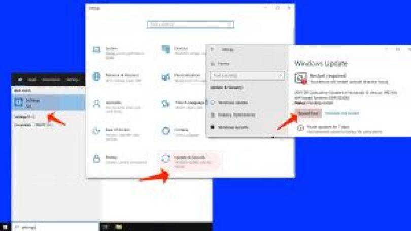 Interner Fehler des Video Schedulers - Windows-Updates