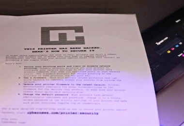 Researchers hacked 28000 printers
