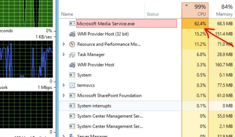 Microsoft Media Service.exe Windows Process