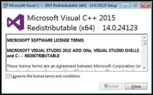 Microsoft Visual C ++ - 2015 Weiterverteilbar