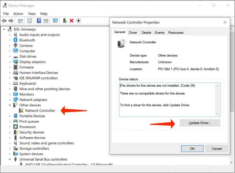 reinstall windows 10 - driver update