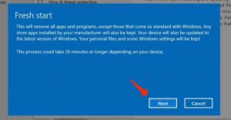 Installieren Sie Windows10 neu - neue Warnung