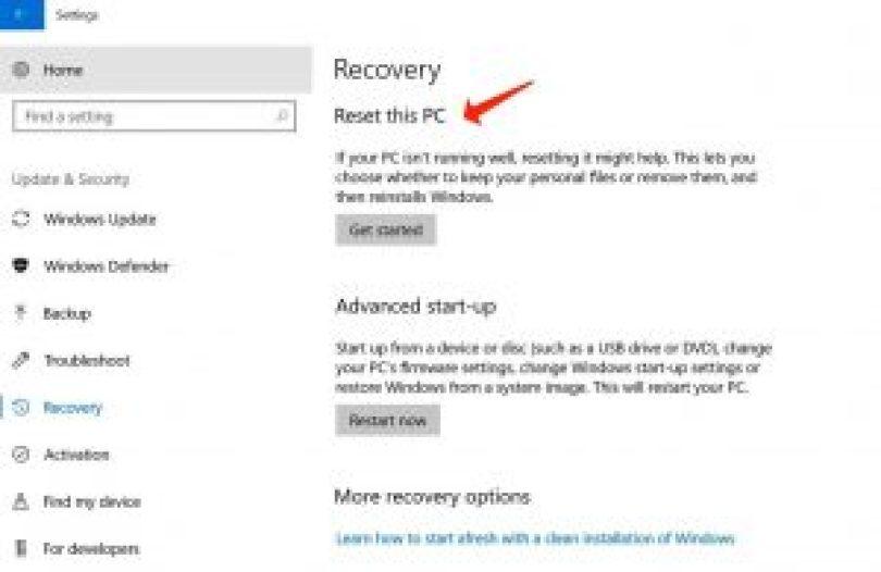 Windows neu installieren - Wiederherstellung