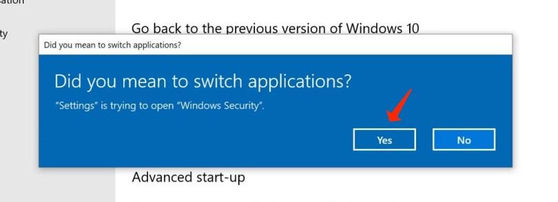 reinstall windows switch yes