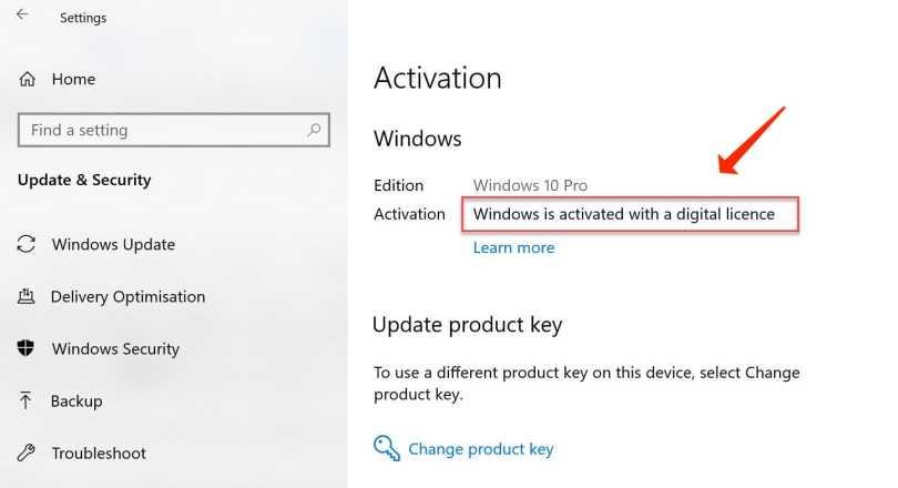 reinstall windows 10 activation