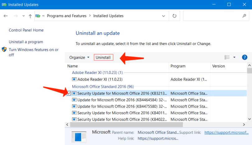 Uninstall-Defective-Windows-Update