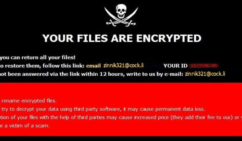 [zinnik321@cock.li].ZIN virus demanding message in a pop-up window