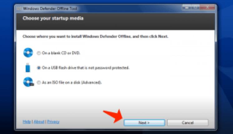 WindowsDefenderオフラインアプリ