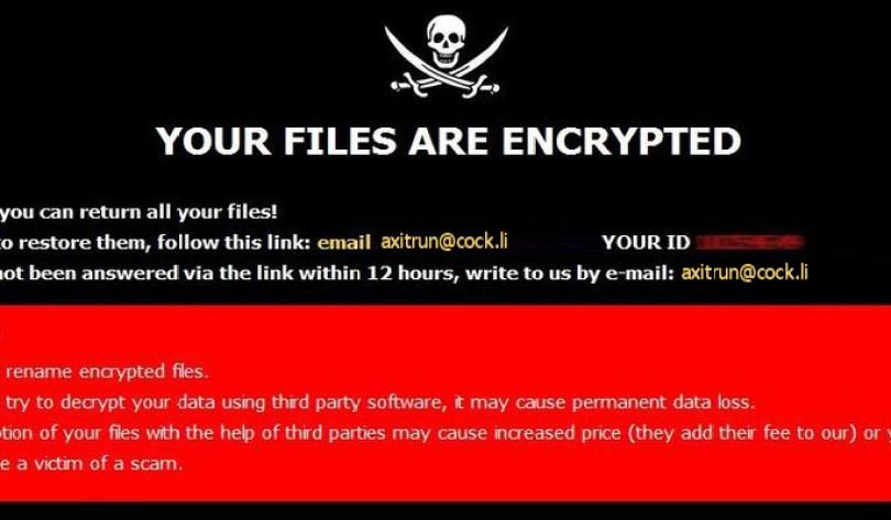 [axitrun@cock.li].14x virus demanding message in a pop-up window