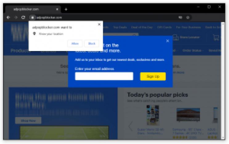 Eliminar programas potencialmente no deseados: ventanas emergentes del navegador