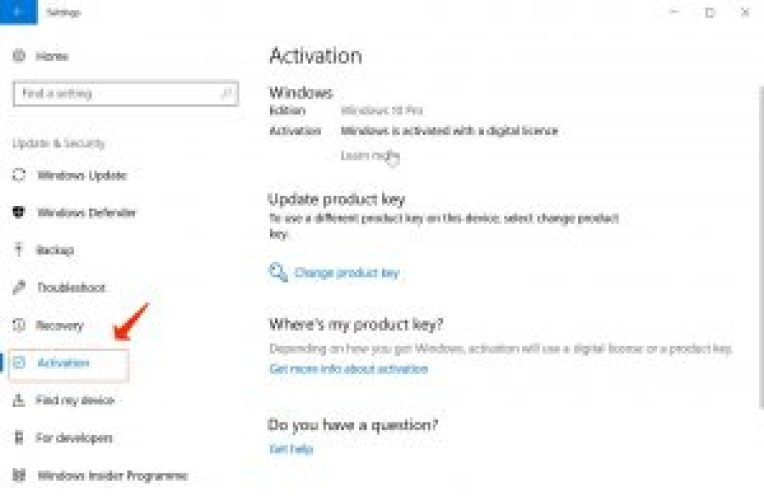 Windows10アクティベーション設定