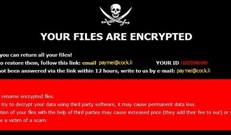 [paymei@cock.li].LOTUS virus demanding message in a pop-up window