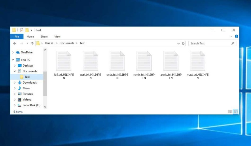 Milihpen Virus - encrypted .MILIHPEN files